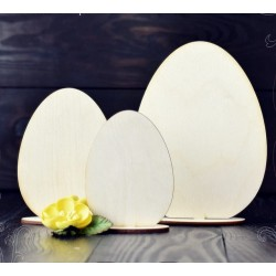 PLYWOOD -  Set of Easter eggs on a stand /3pcs