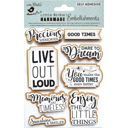 Stickers/ Self Adhesive Elements - GOOD TIME / 8pcs
