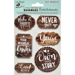 Stickers/ Self Adhesive Elements - MOTIVATIONAL INSCRIPTIONS / 6pcs