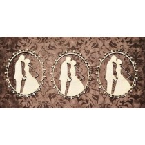 Chipboard - Set of 3 cameo...