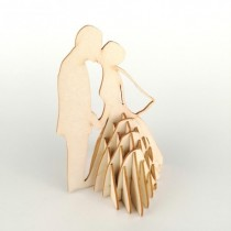 Chipboard - Wedding Couple 3D