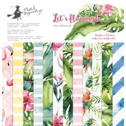 Scrapbooking Paper- Let's Flamingle (12x12)