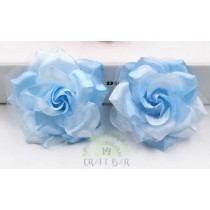 Organza + Silk Head Rose -...