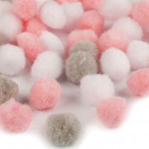 Set of mix Pom Pom 20mm - PINK