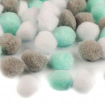 Set of mix Pom Pom 20mm - MINT