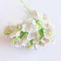 Small Flowers - WHITE WITH...