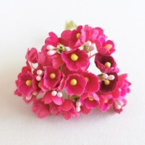 Small Flowers - DARK PINK