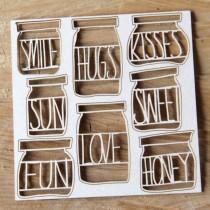 Chipboard -  Jars Memories...