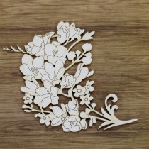 Chipboard - Freesia series...