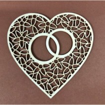 Chipboard - Wedding ring in...
