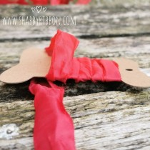 Shabby Ribbon - CRIMSON RED