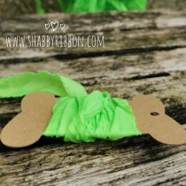 Shabby Ribbon - NEON LIME