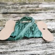 Shabby Ribbon - FOREST GREEN
