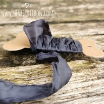 Shabby Ribbon - DARK GREY