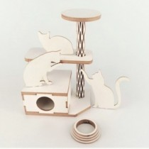 Chipboard - Cat Tree 3D