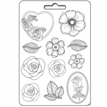 Plastic Mold A4 -  Roses -...