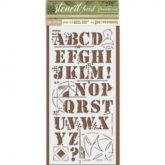 Stamperia Stencil 095 - Forest Alphabet