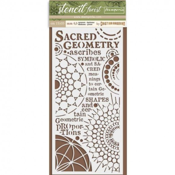 Stamperia Stencil 100 - Sacred Geometry