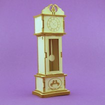 Chipboard - STANDING CLOCK 3D