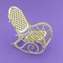 Chipboard - Rocking-chair 3D