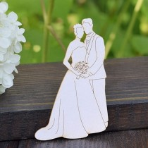 Chipboard - Wedding Couple