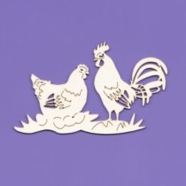 Chipboard - Hen and rooster