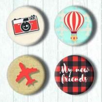Adhesive Badges - Travel...