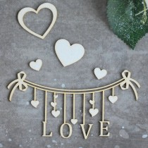 Chipboard - Love Banner
