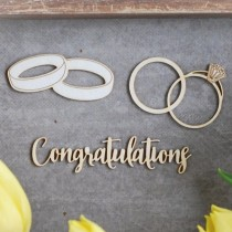 Chipboard - Wedding Set  -...