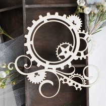 Chipboard - Steampunk gears...