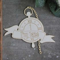 Chipboard - Big Clock - Alice