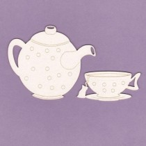Chipboard - Tea Time - Alice
