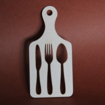 Chipboard - Cutlery on a...