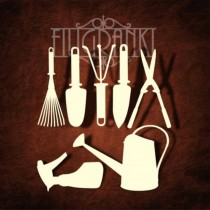 Chipboard - Gardening tools