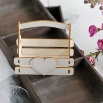 Chipboard - Box with heart 3D