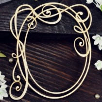 Chipboard - Wedding Oval Frame