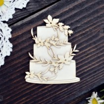 Chipboard - Boho Wedding Cake
