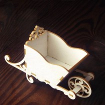 Chipboard 3d - Wheelbarrow 6cm