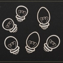Chipboard - Light Bulbs 6pcs