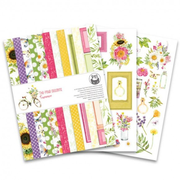Scrapbooking Paper - The Four Seasons - SUMMER 6x8