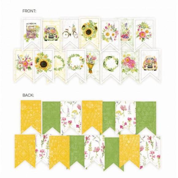 Paper die cut garland - The Four Seasons - SUMMER