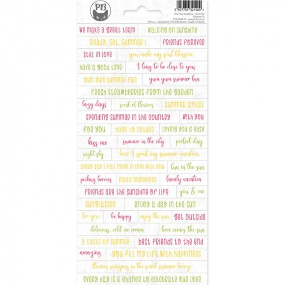Sticker sheet - PHRASES - The Four Seasons - SUMMER