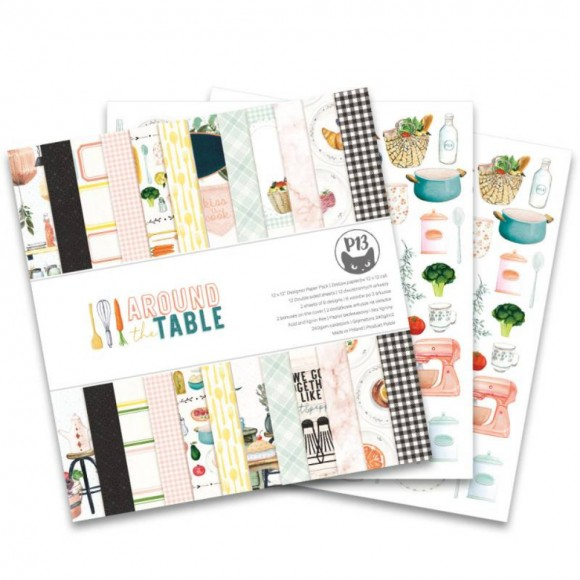 Scrapbooking Paper - AROUND THE TABLE 6x6