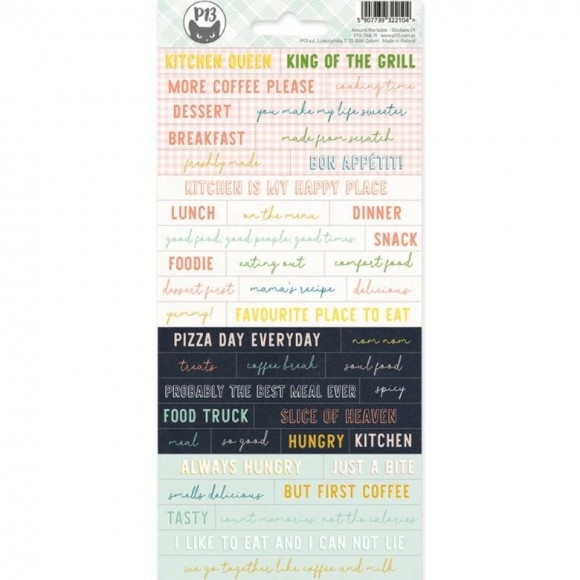Sticker sheet - PHRASES - AROUND THE TABLE