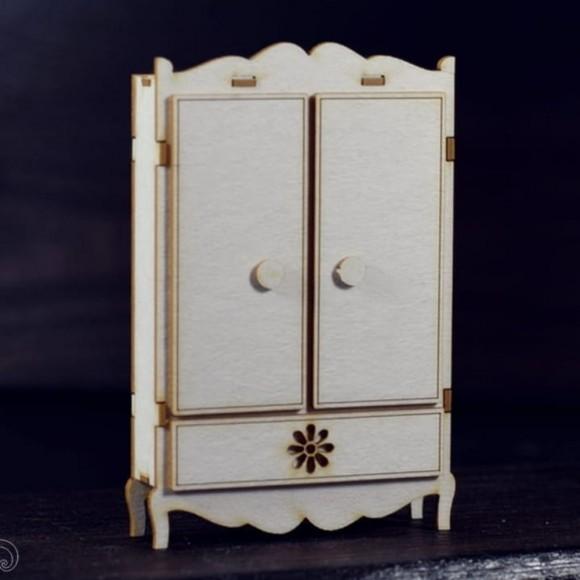 Chipboard - Two-door wardrobe 3D