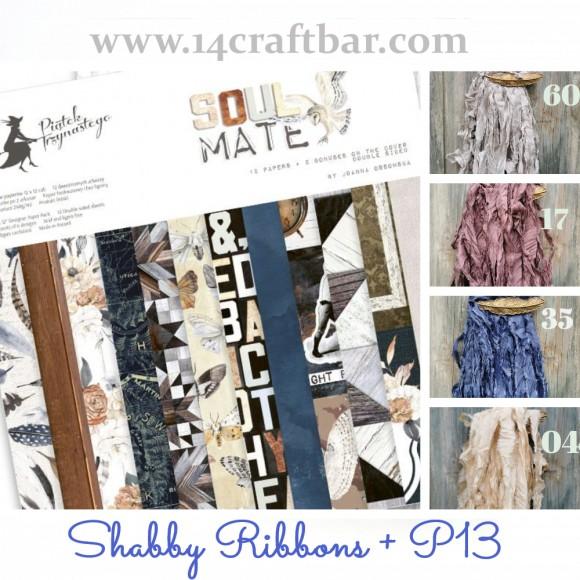Shabby Ribbon Set with P13 - SOUL MATE