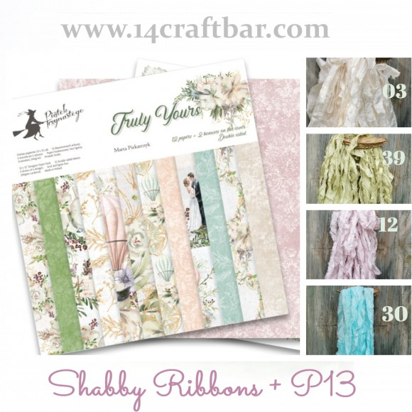 Shabby Ribbon Set with P13 - TRULY YOURS