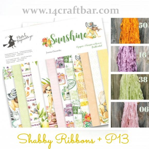 Shabby Ribbon Set with P13 - SUNSHINE