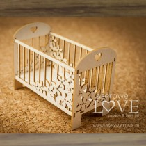 Chipboard - Baby Cot 3D