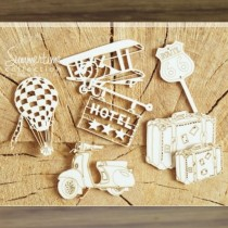 Chipboard - Travel Time - 6pcs